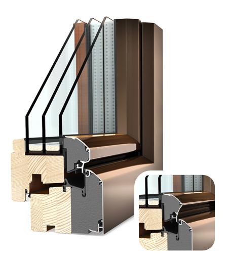 Finestre Ambiente legno/Alu HF300