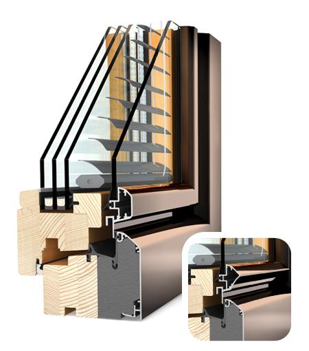 Finestre Ambiente legno/Alu HV340