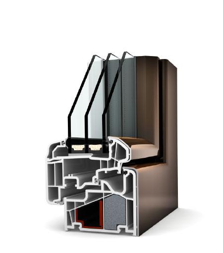 Finestre studio PVC/Alu KF410