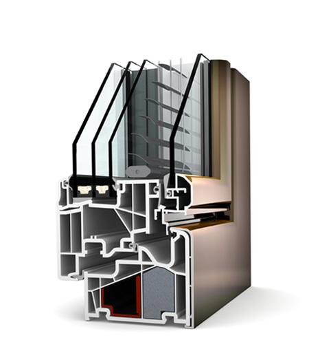 Finestre studio PVC/Alu KV440