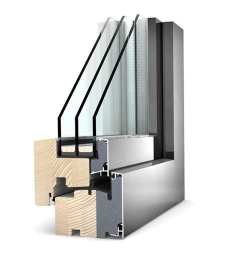 Finestre Home Pure legno/Alu HF200