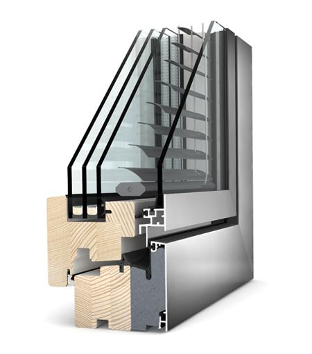 Finestre Home Pure legno/Alu HV240