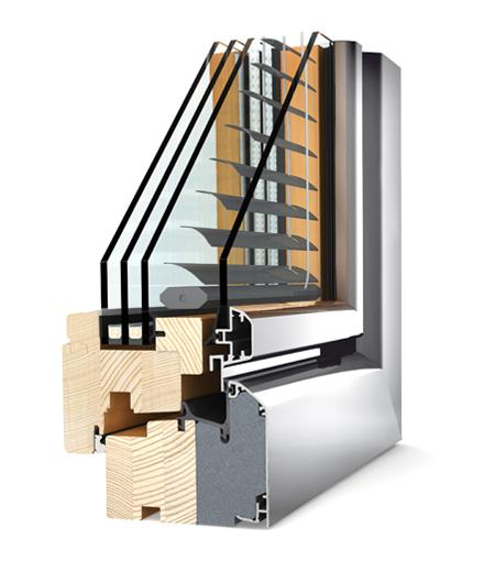 Finestre Home Soft legno/alu HV340