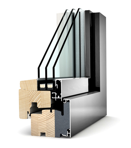 Finestre Home Pure legno/Alu HF210