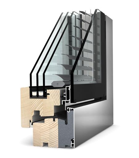 Finestre studio Legno Alluminio HV240